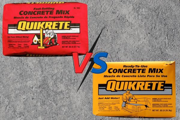 Quick Set Versus Regular Concrete