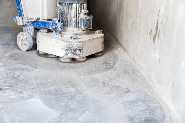 Begin Grinding concrete floor