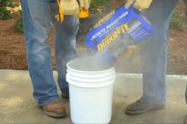 Mix and Pour Concrete Resurfacer