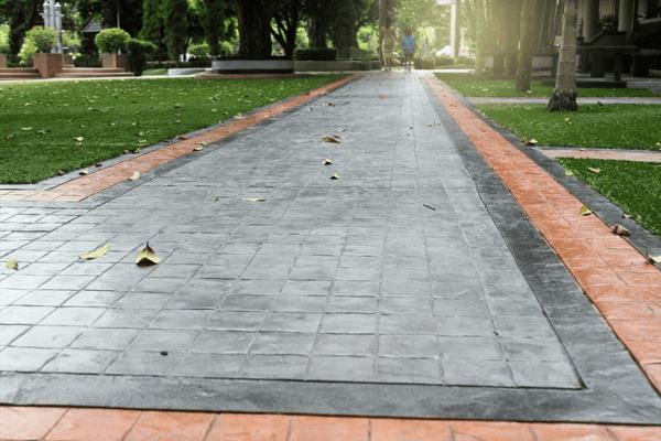 5. Stenciled Concrete Overlays