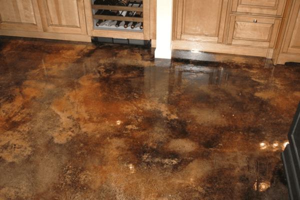 6. Distressed Concrete Overlay