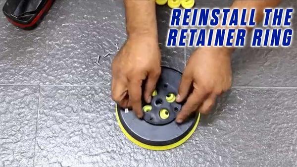 Replace-Grommets-Onfloor-OF16S-EZV-Sander-Pad-REINSTALL-RETAINER-RING