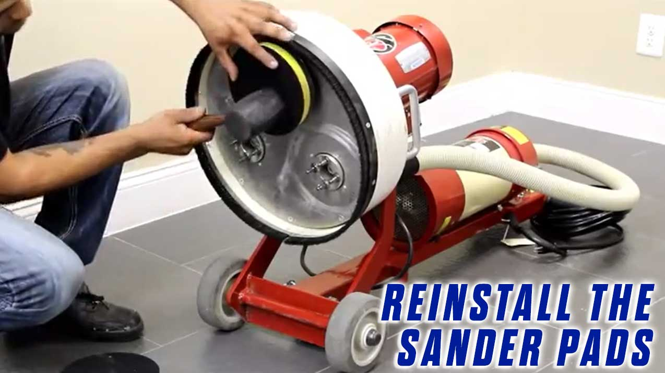 Replace-Grommets-Onfloor-OF16S-EZV-Sander-Pad-reinstall-sanderpad