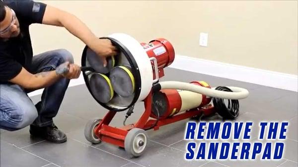 Replace-Grommets-Onfloor-OF16S-EZV-Sander-Pad-remove-sander-pad