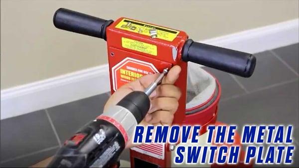 4-Onfloor-OF16S-EZV-Vacuum-Sander-unscrew-using-screwdriver-