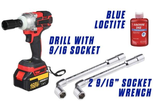 Replace-Bolt-On-Sander-Pad-Onfloor-OF16S-EZV-Sander-drill-socket-9-16-loctite