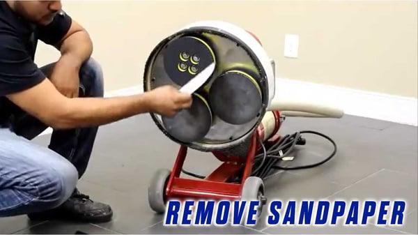 Replace-Bolt-On-Sander-Pad-Onfloor-OF16S-EZV-Sander-remove-sandpaper-from-sander-pad