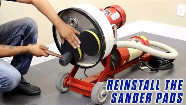 3-Replace-a-Grommet-Style-Sander-Pad-Onfloor-OF16SEZV-Sander-reinstall