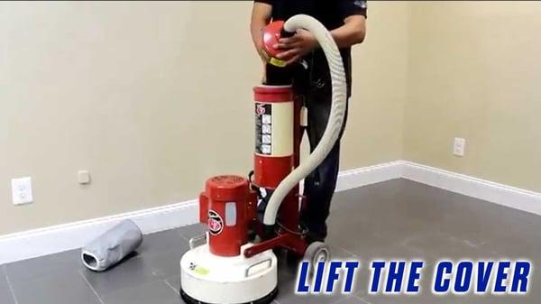 Replace-Vacuum-Filter-Onfloor-OF16S-EZV-Vacuum-Sander-lift-cover