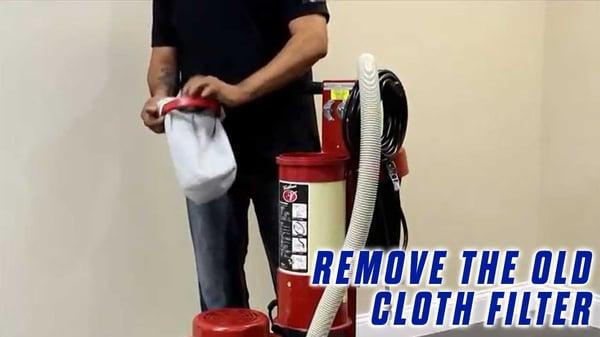 Replace-Vacuum-Filter-Onfloor-OF16S-EZV-Vacuum-Sander-remove-cloth-filter