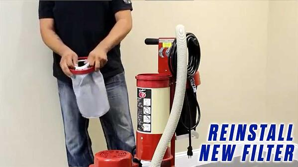 Replace-Vacuum-Filter-Onfloor-OF16S-EZV-Vacuum-Sander-replace-new-cloth-filter