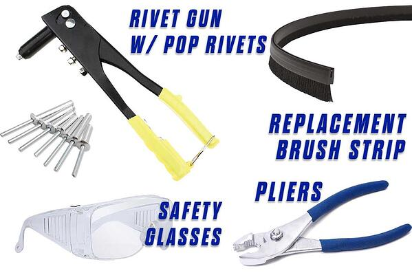 2-Replace-the-Brush-Strip-Onfloor-OF16SEZV-rivet-glasses-pliers-replacement