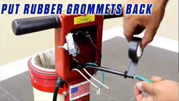 Power-Cord-Onfloor-OF16SEZV-Sander-put-back-rubber-grommets