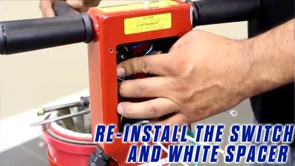 Power-Cord-Onfloor-OF16SEZV-Sander-reinstall-switch-white-spacer