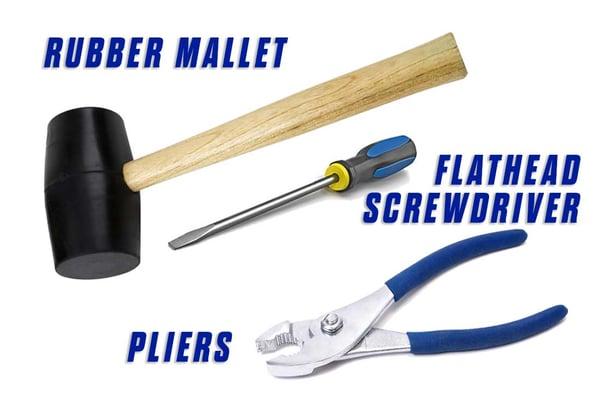replace-wheel-FLATHEAD-SCREWDRIVER-rubber-mallet-pliers-of16s-ezv-handler